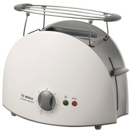 Prajitor de paine Bosch TAT6101, 900 W, 2 felii, 6 setari, Alb