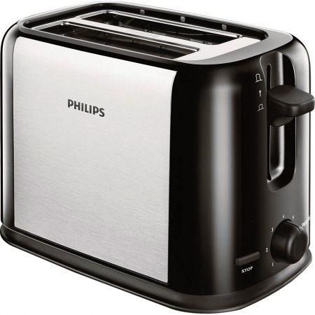 Prajitor de paine Philips HD2586/20, 950 W, 2 felii, Negru/Argintiu