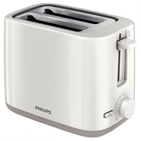 Prajitor de paine Philips HD2595/00, 800 W, 2 felii, Alb