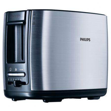 Prajitor de paine Philips HD2628, 950 W, 2 felii, Inox