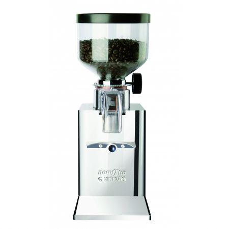 Rasnita cafea semiprofesionala Minimoka GR 0203, 200W, motor cu reductor cu turatie mica 700 rot/min, reglare micrometrica a macinarii, INOX, ptr. acasa,birouri si mici baruri