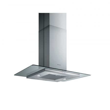 Hota insula Pyramis CIELO, 90 cm, 625mc/h, Display, Inox si sticla