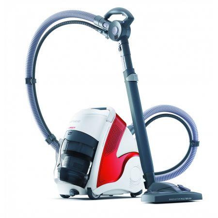 Aspirator Polti Unico MCV 50 Allergy Mulifloor & Turbo, Filtrare Multiciclonica 5 Stadii, Functie Igienizare Abur si Uscare, 2350 W, Filtru Hepa, Rosu