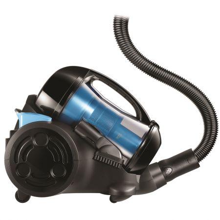 Aspirator fara sac Beko BKS1360C, 1.8 l, Tub telescopic metalic, 1200 W, Filtru HEPA, Negru/Albastru